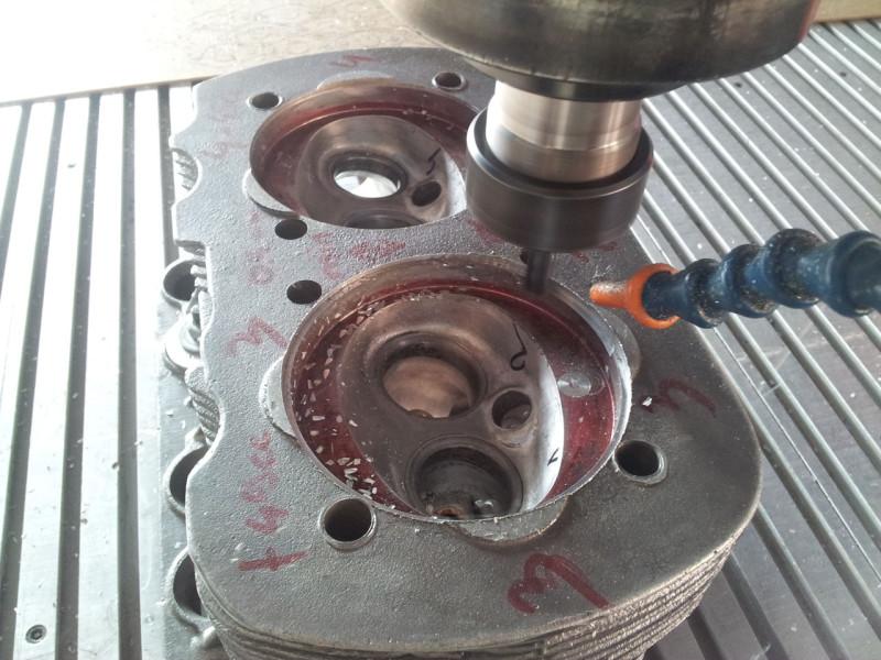 Frezowanie głowicy silnikowej